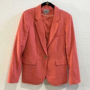 Dalia linen coral pink jacket/blazer one button